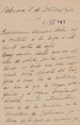 Cartas de Gabriel Fernández Shaw a Carlos Fernández Shaw.