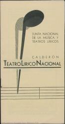 """Programa de mano de """"El Talisman"""" : Teatro Calderón (Madrid)."""