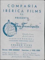 Ver ficha de la obra: Doña Francisquita