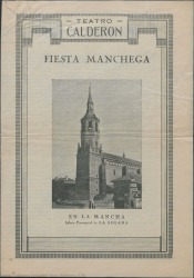 """Programa de mano de """"La rosa del azafrán"""" : Teatro Calderón (Madrid)."""
