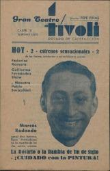"""Programa de mano de """"La Rosario ó La Rambla de fin de siglo"""" y """"¡Cuidado con la pintura!"""" : Gran Teatro Tívoli (Barcelona)."""