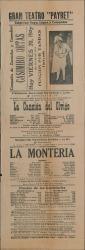 La canción del olvido, de Romero y Fernández-Shaw, música de Serrano. La montería, de José Ramos Martínez, música de Jacinto Guerrero : Teatro Payret (La Habana).