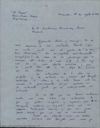 """Cartas de Narcís Bonet a Guillermo Fernández-Shaw relacionadas con """"La burlesca Altisidora""""."""