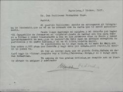 """Cartas sobre """"El canastillo de fresas""""."""