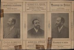 """Programa de mano de """"Las bravías"""" de Carlos Fernández Shaw y José López Silva, música de Ruperto Chapí : Teatro de Apolo, Madrid."""