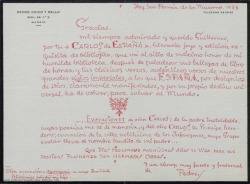 See work details: Carlos de España; El caserío