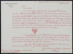 "Correspondencia relativa a ""Carlos de España""."