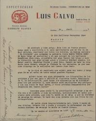 """Correspondencia relativa a """"El dictador""""."""