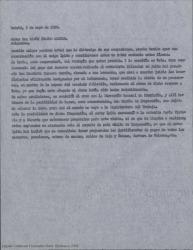 Correspondencia entre Ramón Arenas Franco, presidente del Montepío de Representantes y Guillermo Fernández-Shaw.