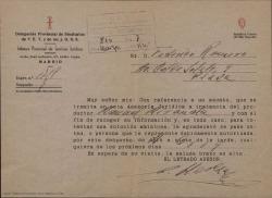 Correspondencia relativa a un pleito de Guillermo Fernández-Shaw y Federico Romero con Manuel Miranda.