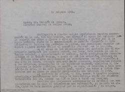 Correspondencia relacionada con las representaciones en Portugal de obras de Guillermo Fernández-Shaw y Federico Romero en 1945.