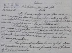 """Correspondencia relacionada con """"Byron en Venecia""""."""