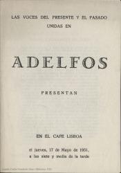 Las voces del presente y el pasado unidas en Adelfos : Café Lisboa, 2º ciclo, 29ª sesión : Poetas de ayer.