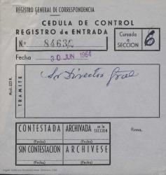 Correspondencia en relación con Brasil y con la Sociedad de Autores Teatrales de este país.