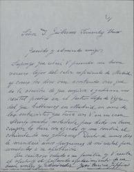 Carta de José Enrique Gippini a Guillermo Fernández-Shaw, hablando sobre su próximo recital en el Teatro Lope de Vega, agradeciéndole sus gestiones.