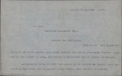 Carta de Froilán Tellaeche Perrin a Guillermo Fernández-Shaw, pidiéndole unas entradas para el teatro y que si puede le corrija unos textos.