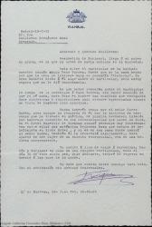 Carta de Enrique Rambal a Guillermo Fernández-Shaw, hablando de conocidos comunes y de temas teatrales.