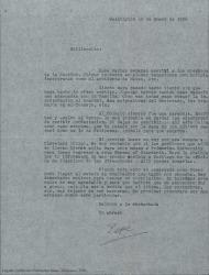 Carta de Pepe [?] a Guillermo Fernández-Shaw, contándole sus proyectos personales.