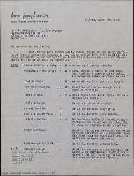 Carta de Carlos Miguel Suárez Radillo a Guillermo Fernández-Shaw, comunicándole como van las gestiones para conseguir la participación de los galardonados por el Círculo en la fiesta de entrega de medallas.