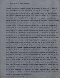 Carta de Guillermo Fernández-Shaw a Ernesto Lecuona diciéndole que Primelles le escribirá pronto, que tienen mas ideas para sus primeras actuaciones en España y que están ilusionados con el proyecto de una obra teatral en colaboración.