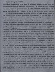 """Copia incompleta de carta de Guillermo Fernández-Shaw a Daniel [?], diciéndole que encuentra muy interesante la propuesta de la empresa """"Teatro del Este"""" y puntualizando extensamente varios aspectos a tener en cuenta antes de aceptar dicha propuesta."""