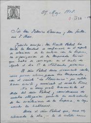 """Carta de José Tellaeche a Federico Romero y Guillermo Fernández-Shaw, expresando el deseo del señor Patuel de llevar en su compañía """"Los flamencos"""" en la organización de la temporada lírica del Teatro Apolo."""