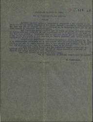 """Carta de José Ramos Martín a Federico Moreno Torroba, acusando recibo de su carta, lamentando el fracaso de las gestiones para resolver la discrepancia entre los autores de """"Monte Carmelo"""" de forma amistosa."""