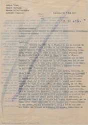 """Carta de Alfred Gehri al señor Pasquali, representante en Madrid de la Sociedad de Autores y Compositores Dramáticos, hablándole de los derechos de autor de """"Sexto piso""""."""