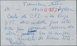 Carta de Carlos Fernández Shaw a su hijo Guillermo Fernández-Shaw diciéndole que está bien que aprenda escenas de obras pero que tenga presente que no siempre son modelo de buena literatura. Aprovecha para darle noticias de la familia.