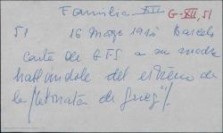 """Carta de Guillermo Fernández-Shaw a su madre, Cecilia Iturralde, hablándole del estreno de """"La sonata de Grieg""""."""
