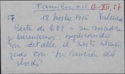 """Carta de Guillermo Fernández-Shaw a Cecilia Iturralde, explicando con detalle el éxito alcanzado con """"la canción del olvido""""."""