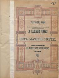 """Programa de mano de """"El cortejo de la Irene"""", letra de Carlos Fernández Shaw, música del maestro Chapí : Teatro del Duque (Sevilla)."""