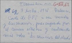 """Carta de Guillermo Fernández-Shaw a su madre Cecilia Iturralde, preocupado por en nuevo estreno y contando más cosas sobre """"La canción del olvido""""."""