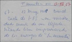 """Carta de Guillermo Fernández-Shaw a Cecilia Iturralde, diciéndole que ya ha llegado a Barcelona y que está impresionado con los ensayos de """"La serranilla""""."""