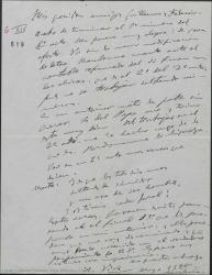 """Carta de Amadeo Vives a Federico Romero y Guillermo Fernández-Shaw, contando avances en su trabajo para """"Los Flamencos""""."""