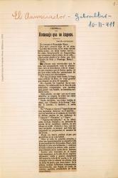 Cuaderno 29 (1911). Crónica y crítica de obras de Carlos Fernández Shaw.