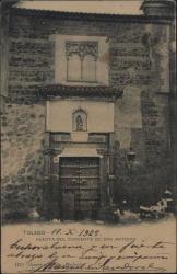 Tarjeta postal ilustrada de Manuel Sandoval a Guillermo Fernández-Shaw, dándole una enhorabuena