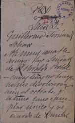 Carta del Conde de las Navas a Guillermo Fernández-Shaw, pidiéndole reclame en su nombre la devolución de un retrato de Rambal que prestó para su publicación.