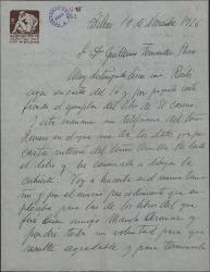 """Cartas de José Arrúe a Guillermo Fernández-Shaw sobre la ilustración que le ha encargado para la cubierta del libro """"El caserío""""."""