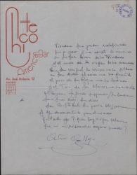 Composición en verso firmada por Antonio Calleja.