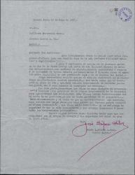 Carta de José López Silva a Guillermo Fernández-Shaw, autorizándole para incluir fragmentos de obras de su padre en una obra suya.