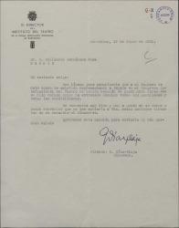 Carta de Guillermo Diaz-Plaja a Guillermo Fernández-Shaw, dándole noticias de su hijo Carlos al que ha visto recientemente en Oslo.
