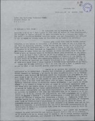Carta de Enrique L. Andrade a Guillermo Fernández-Shaw, contándole diversas incidencias de su vida profesional y pidiéndole noticias de antiguos conocidos.