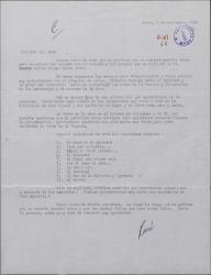 """Carta firmada por René [?] a Guillermo Fernández-Shaw, dando noticias sobre los ensayos de """"Doña Francisquita"""" y enumerando los números que van a incluir en la representación."""