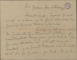 Carta de Adolfo Wagener a Guillermo Fernández-Shaw, sobre una colaboración para el Concurso Nacional de Música.