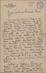 Carta de Antonio Rodríguez de León a Guillermo Fernández-Shaw, recomendando a su primo músico, Emilio Mariani.
