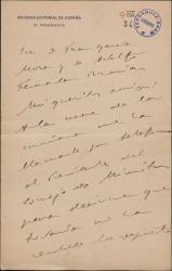 Carta de Miguel Moya a Juan García Mora y Adolfo Fernández Marías, sobre cierta noticia que esperan del Presidente del Consejo de Ministros.
