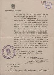 Oficio firmado por Alberto de Alcocer como Alcalde de Madrid, designando a Guillermo Fernández-Shaw como Subdelegado de Abastos.