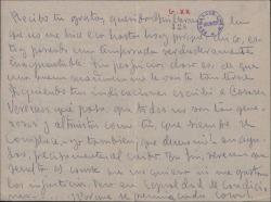 Carta de Pepe [?] a Guillermo Fernández-Shaw, contestando a una suya sobre temas de influencias y ayudas.