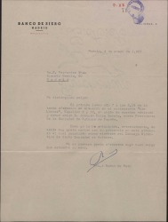 Carta de Ramón de Rato a Guillermo Fernández-Shaw, invitándole a un almuerzo con Joaquín Calvo Sotelo.
